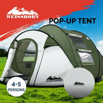 Weisshorn Instant Up Camping Tent 4-5 Person Pop up Tent