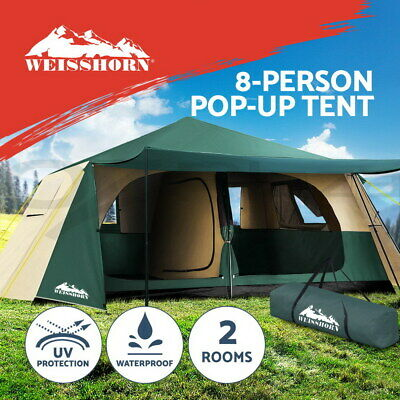 Weisshorn Instant Up Camping Tent 8 Person Pop up Tent