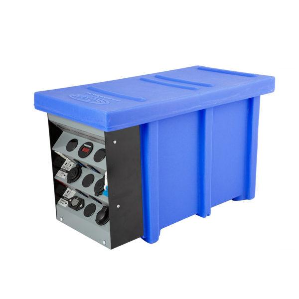 National Luna 12V Auxiliary Battery Box Blue