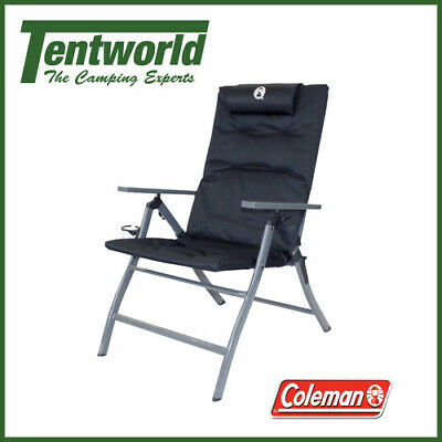 Coleman 5 Position Padded Hiking Camping Chair Black