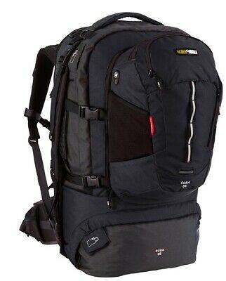 Black Wolf Cuba 65L EXPANDABLE Travel Pack & daypack - Black