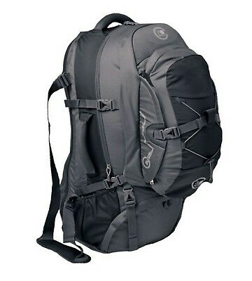 Karrimor Global 70L to 90L Expandable Travel Backpack Black/Pewter RRP $349